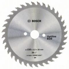 Пильный диск Bosch Optiline Wood ECO 150 x 20/16, Z36