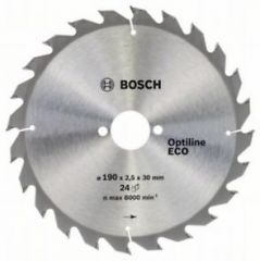 Пильный диск Bosch Optiline Wood ECO 190х30, Z24